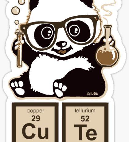 Chemistry panda discovered cute Sticker