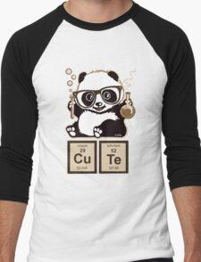 Chemistry panda discovered cute Men's Baseball ¾ T-Shirt