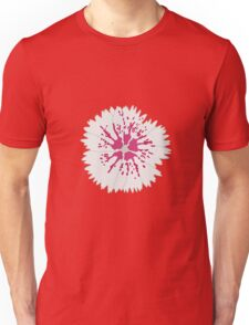 Grey Flower Unisex T-Shirt