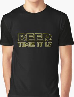 Beer Time It Is Graphic T-Shirt
