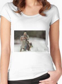 Is Hoth in Iowa?  Women's Fitted Scoop T-Shirt