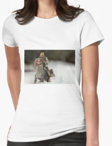 Is Hoth in Iowa?  Womens Fitted T-Shirt