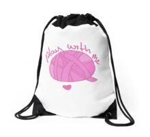 "Ball of Yarn ""Play With Me"" Drawstring Bag"