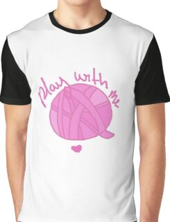 "Ball of Yarn ""Play With Me"" Graphic T-Shirt"