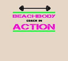 Beachbody Coach In Action ! Womens Fitted T-Shirt