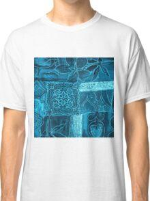 BLUE PATCHWORK Classic T-Shirt