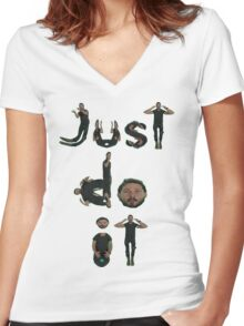 Shia Labeouf Just Do It Women's Fitted V-Neck T-Shirt