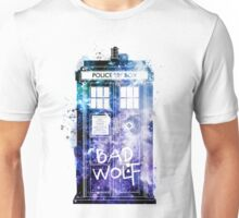 Doctor Who Tardis Bad Wolf Watercolor Unisex T-Shirt