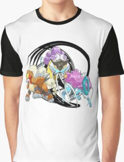 Entei Raikou Suicune Graphic T-Shirt