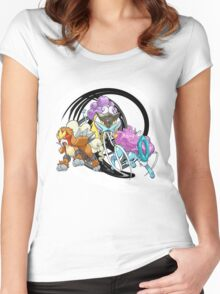 Entei Raikou Suicune Women's Fitted Scoop T-Shirt