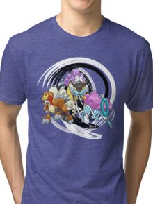 Entei Raikou Suicune Tri-blend T-Shirt