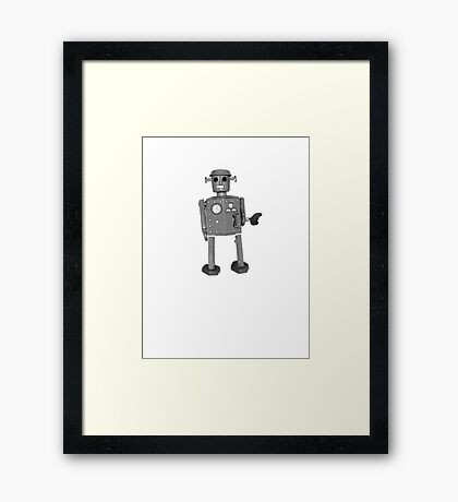 Creepier than your average robot Framed Print