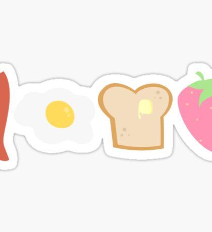Cute Breakfast Sticker