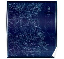 Civil War Maps 1439 Portion of the Military department of Washington embraching lower counties of Maryland Inverted Poster