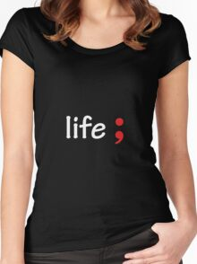 Semicolon; Life Women's Fitted Scoop T-Shirt
