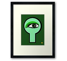 Emerald Key Hole Framed Print
