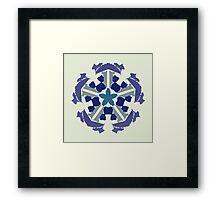 a snowflake for Christmas Framed Print