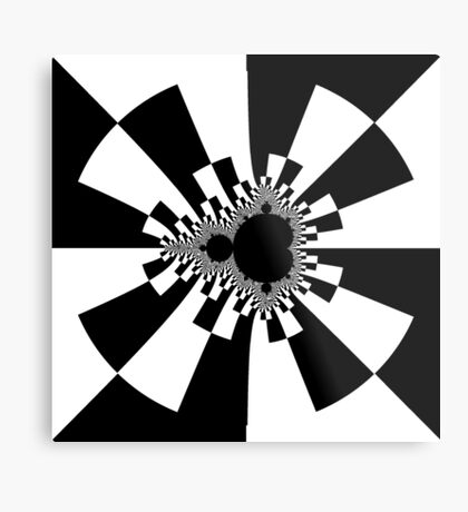 Mandelbrot XV - White Metal Print
