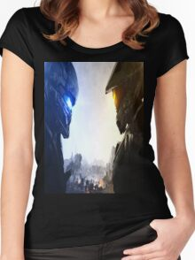 Halo 5 fuckery Women's Fitted Scoop T-Shirt