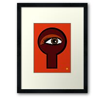 Coffee Key Hole Framed Print