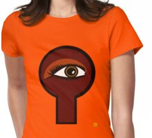 Coffee Key Hole Womens Fitted T-Shirt