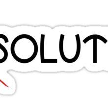 Resolutions = Solutions Sticker
