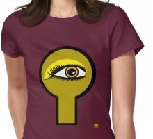 Golden Key Hole Womens Fitted T-Shirt