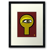 Golden Key Hole Framed Print