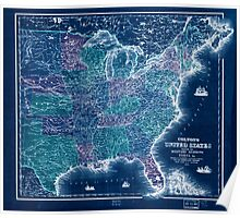 Civil War Maps 0316 Colton's United States shewing the military stations forts c Inverted Poster