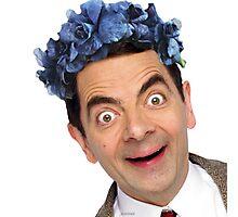 Flower Crown Mr. Bean Photographic Print