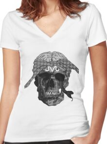YUNG DEAD MAN Women's Fitted V-Neck T-Shirt