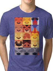 Minimalist Lion King Icons Tri-blend T-Shirt