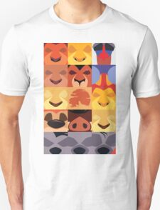 Minimalist Lion King Icons Unisex T-Shirt