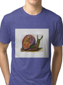 EricTHEWilson Psychedelic Snail Tri-blend T-Shirt