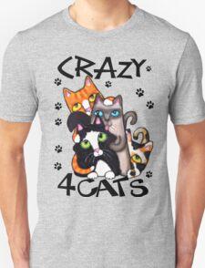Crazy Cat Lovers Kitty Art Unisex T-Shirt