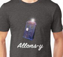 """Allons-y!"" Public Call Box. Unisex T-Shirt"