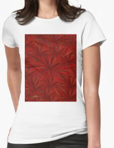 Embossed Japanese Maple Lotus Blossom  Womens Fitted T-Shirt