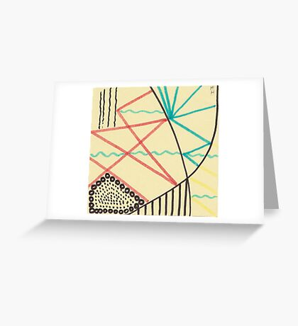 sticky note note abstraction Greeting Card