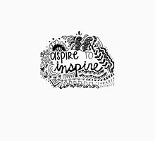 Aspire to Inspire Zentangle Quote Unisex T-Shirt