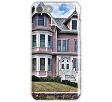 Passing the Pink Victorian House iPhone Case/Skin