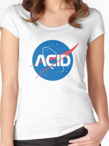 Acid vs Nasa Women's Fitted Scoop T-Shirt