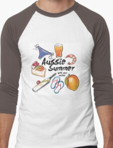 Aussie Summer with your mates Men's Baseball ¾ T-Shirt