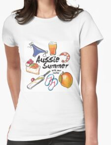 Aussie Summer with your mates Womens Fitted T-Shirt