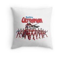 Ultraman Family All Star Version 1 Throw Pillow