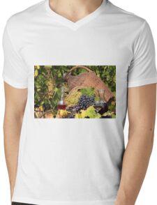 vineyard red and white wine  Mens V-Neck T-Shirt