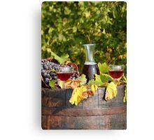 vineyard red wine  Canvas Print