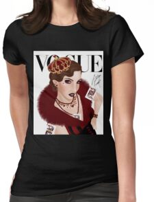 Queen of Hearts ( white version) Womens Fitted T-Shirt