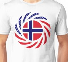 Norwegian American Multinational Patriot Flag Series 1.0 Unisex T-Shirt