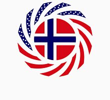 Norwegian American Multinational Patriot Flag Series 1.0 Unisex T-Shirt