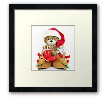 teddy-bear Santa Claus Framed Print